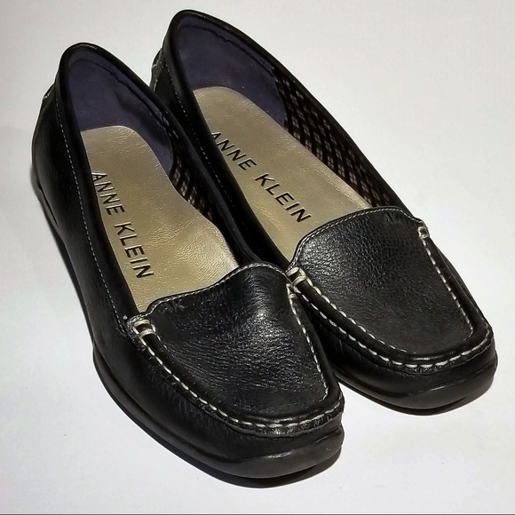 ec06981dd96 Anne Klein Shoes - Anne Klein Flex Black Leather Loafers Size 8